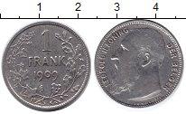 Изображение Монеты Бельгия 1 франк 1909 Серебро XF