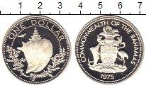 Изображение Мелочь Багамские острова 1 доллар 1975 Серебро Proof