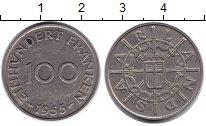 Изображение Монеты Саар 100 франков 1955 Медно-никель XF Протекторат Саар (19