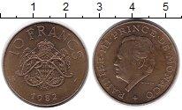 Изображение Монеты Монако 10 франков 1982 Латунь XF