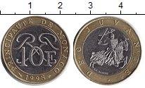 Изображение Монеты Монако 10 франков 1998 Биметалл XF