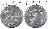 Изображение Монеты Финляндия 50 марок 1982 Серебро XF ЧМ по хоккею