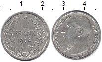 Изображение Монеты Бельгия 1 франк 1904 Серебро VF
