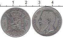 Изображение Монеты Бельгия 1 франк 1886 Серебро VF