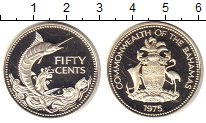 Изображение Мелочь Багамские острова 50 центов 1975 Серебро Proof-