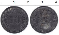 Изображение Монеты Веймарская республика 10 пфеннигов 1917 Цинк VF Нотгельд.Дармштадт