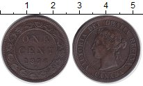 Изображение Монеты Канада 1 цент 1876 Медь XF