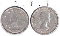 Изображение Монеты Канада 10 центов 1957 Серебро XF Елизавета II