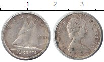 Изображение Монеты Канада 10 центов 1968 Серебро XF