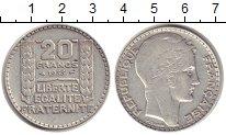 Изображение Монеты Франция 20 франков 1933 Серебро