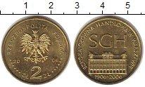 Изображение Монеты Польша 2 злотых 2006 Латунь XF 100 лет Варшавской ш