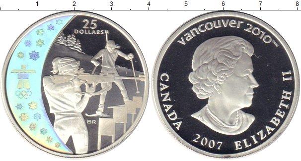 5 долларов 2007 - кленовый лист /оранжевый/ (коллекционная монета) - канада