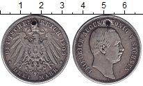 Изображение Монеты Саксония 3 марки 1909 Серебро  Отверстие. Фридрих А