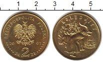 Изображение Мелочь Польша 2 злотых 2001 Латунь UNC- Колядки