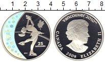 Изображение Монеты Канада 25 долларов 2008 Серебро Proof- Елизавета II. Фигурн