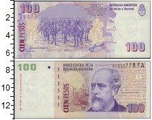 Изображение Боны Аргентина 100 песо 0  XF Портрет Хулио Рока.