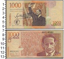 Изображение Банкноты Колумбия 1000 песо 0  XF