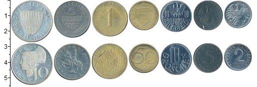Изображение Наборы монет Австрия Австрия 1972 1972  XF В наборе 7 монет ном