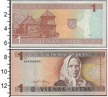 Изображение Банкноты Литва 1 лит 1994  UNC