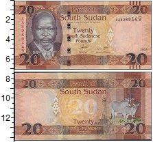 Изображение Боны Судан 20 фунтов 2015  UNC- Антилопы