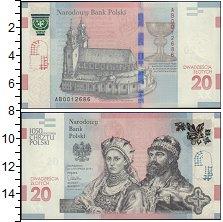 Изображение Банкноты Польша 20 злотых 2015  UNC 1050 годовщина приня