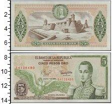 Изображение Банкноты Колумбия 5 песо 1980  UNC-
