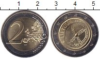 Изображение Мелочь Литва 2 евро 2016 Биметалл UNC- Балтийская культура