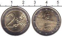 Изображение Мелочь Люксембург 2 евро 2016 Биметалл UNC-