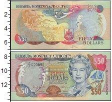 Изображение Банкноты Великобритания Бермудские острова 50 долларов 0  UNC-