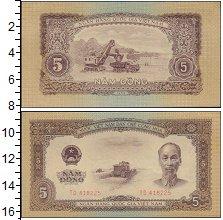 Изображение Банкноты Вьетнам 5 донг 1958  UNC-