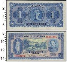 Изображение Банкноты Колумбия 1 песо 1965  XF