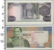 Изображение Банкноты Колумбия 500 песо 1977  UNC-