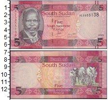 Изображение Боны Судан 5 фунтов 2015  UNC-