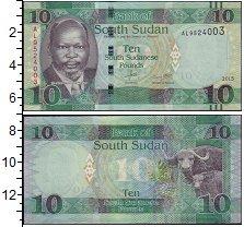 Изображение Боны Судан 10 фунтов 2015  UNC- Буйволы
