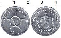 Изображение Монеты Куба 5 сентаво 1972 Алюминий UNC-