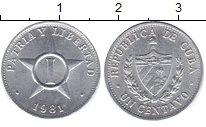 Изображение Монеты Куба 1 сентаво 1981 Алюминий UNC-