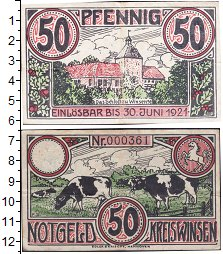 Изображение Банкноты Германия : Нотгельды 50 пфеннигов 1921  VF