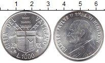 Изображение Монеты Ватикан 1000 лир 1984 Серебро XF