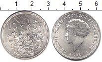 Изображение Монеты Люксембург 10 франков 1929 Серебро UNC Шарлотта - Великая г