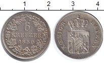Изображение Монеты Бавария 6 крейцеров 1850 Серебро XF