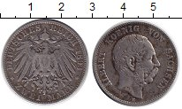 Изображение Монеты Германия Саксония 2 марки 1893 Серебро VF