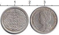 Изображение Монеты Нидерланды 25 центов 1914 Серебро XF