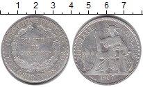 Изображение Монеты Индокитай 1 пиастр 1907 Серебро VF Французский протекто