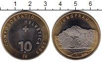 Изображение Монеты Швейцария 10 франков 2005 Биметалл XF