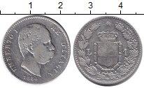 Изображение Монеты Италия 1 лира 1884 Серебро  Умберто I