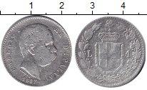 Изображение Монеты Италия 1 лира 1887 Серебро  Умберто I