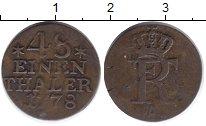 Изображение Монеты Германия Пруссия 1/48 талера 1778 Медь XF