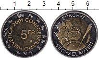 Изображение Монеты Швейцария 5 франков 2001 Биметалл XF