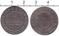 Изображение Монеты Швейцария 1 батцен 1809 Серебро XF