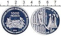 Изображение Монеты Центральная Африка 1000 франков 2004 Серебро Proof-